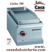 Placa Grelhar Industrial Eléctrica Trifásica Lisa de 1 Zona, Linha 700, Potência 4 kW (transporte incluído) - Refª 100105