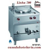 Marmita a Gás de 50 Litros com Aquecimento Indirecto da Linha 700 (transporte incluído) - Refª 100127