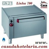 Bancada como Base de Apoio com Forno Industrial a Gás GN 2/1 da Linha 700, 5160 Kcal/h (transporte incluído) - Refª 100137