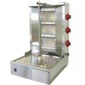 Grelhador Industrial a Gás Kebab com Espeto de 600 mm, 25 a 35 kg, 9030 kcal/h, Potência de 10500 Watts (transporte incluído) - Refª 100170
