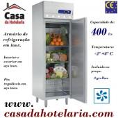 Armário Refrigerado Industrial Ventilado Monofásico em Inox de 400 Litros, Temperatura -2º + 8º C (transporte incluído) - Refª 100180