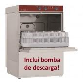 Máquina de Lavar Louça Industrial Monofásica Profissional para Copos e Pequenos Pratos com Cestos de 400x400 mm e Bomba de Descarga (transporte incluído) - Refª 100183