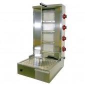 Grelhador a Gás Giratório Kebab 40 kg com Espeto de 800 mm, Potência de 10 kW (transporte incluído) - Refª 100195