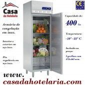 Armário de Congelação Ventilado Industrial em Inox de 400 Litros, -10º -22º C (transporte incluído) - Refª 100210