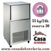 Máquina Fabricador de Cubos de Gelo Oco 55 kg/24h com Reserva de 30 kg (transporte incluído) - Refª 100223