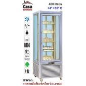 Vitrina Refrigerada de 400 Litros de 5 Níveis Rotativos (transporte incluído) - Refª 100239