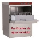 Máquina de Lavar Loiça Industrial Monofásica Profissional para Copos e Pratos com Cestos de 450x450 mm e Purificador de Água (transporte incluído) - Refª 100240