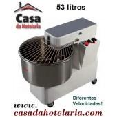 Amassadeira Espiral Monofásica de 53 Litros com Regulador de Velocidades (transporte incluído) - Refª 100243