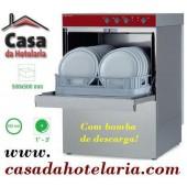 Máquina de Lavar Louça Profissional 500x500 mm com Bomba de Descarga (transporte incluído) - Refª 100263