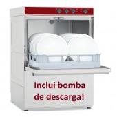 Máquina de Lavar Louça Profissional Industrial com Cesto de 500x500 mm e Bomba de Descarga (transporte incluído) - Refª 100263