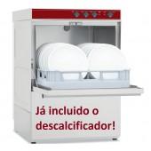 Máquina de Lavar Louça Profissional Industrial com Cesto de 500x500 mm e Descalcificador (transporte incluído) - Refª 100266
