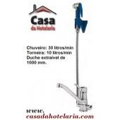 Torneira Misturadora com Chuveiro / Duche Extraível - Refª 100280