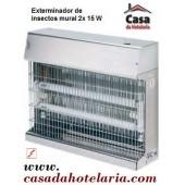Exterminador de Insectos 2x 15 W - Versão Mural (transporte incluído) - Refª 100292