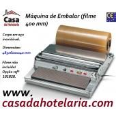 Máquina para Embalar em Inox para Filme de 400 mm de Largura (transporte incluído) - Refª 100294
