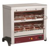 Torradeira Industrial Monofásica de 2 Pisos com Temporizador e 6 Pinças Incluídas, 2700 Watts (transporte incluído) - Refª 100296