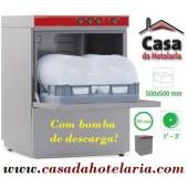 Máquina de Lavar Louça Profissional 500x500 mm com Bomba de Descarga (transporte incluído) - Refª 100297