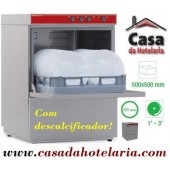 Máquina de Lavar Louça Profissional 500x500 mm com Descalcificador (transporte incluído) - Refª 100302
