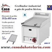Grelhador Industrial a Gás de Pedra Lávica (transporte incluído) - Refª 100303