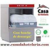 Máquina de Lavar Louça Profissional 500x500 mm com Bomba de Descarga (transporte incluído) - Refª 100314