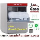 Máquina de Lavar Louça Profissional 500x500 mm com Descalcificador (transporte incluído) - Refª 100318