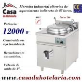 Marmita Industrial Eléctrica de Aquecimento Indirecto de 85 Litros da Linha 700 (transporte incluído) - Refª 100322