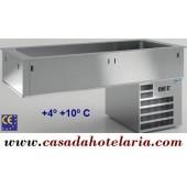 Unidade de Refrigeração de Encastrar com Bacia 4x GN 1/1 de 200 mm (transporte incluído) - Refª 100325
