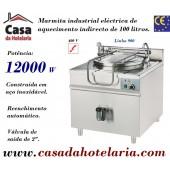 Marmita Industrial Eléctrica de Aquecimento Indirecto de 100 Litros da Linha 900 (transporte incluído) - Refª 100331