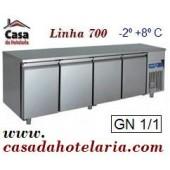 Bancada Refrigerada GN 1/1 de 550 Litros da Linha 700 (transporte incluído) - Refª 100336