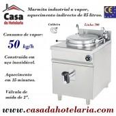 Marmita Industrial de Aquecimento a Vapor, Caldeira de 85 Litros da Linha 700 (transporte incluído) - Refª 100348