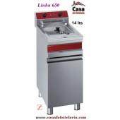 Fritadeira Eléctrica Industrial de 1 Cuba de 14 Litros (transporte incluído) - Refª 100372