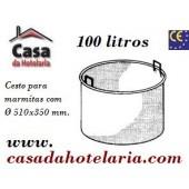 Cesto para Marmitas em Aço Inox com Capacidade para 100 Litros (transporte incluído) - Refª 100593