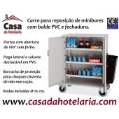 Carro para Reposição de Minibares, Dimensões de 1000x620x1190 mm LxPxA (transporte incluído) - Refª 100801