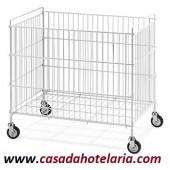 Carro-Cesto Dobrável para Roupa, Dimensões de 810x510x750 mm (LxPxA) - Refª 100803