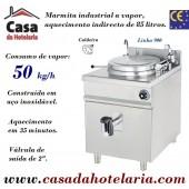 Marmita Industrial de Aquecimento a Vapor, Caldeira de 85 Litros da Linha 900 (transporte incluído) - Refª 100811