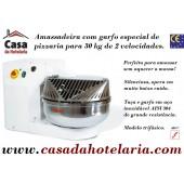 Amassadeira com Garfo, Especial para Pizzaria, Capacidade para 30 Kg, Trifásica com 2 Velocidades (transporte incluído) - Refª 100919