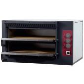 Forno de Pizzas Industrial Eléctrico Trifásico de 2 Câmaras de 620x500x120 mm (LxPxA) cada, 7500 Watts, +50º +400º C  (transporte incluído) - Refª 100943