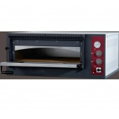 Forno de Pizzas Industrial Elétrico Trifásico de 1 Câmara para 6 pizzas de Ø 330 mm, 7200 Watts, +50º +500º C (transporte incluído) - Refª 100945