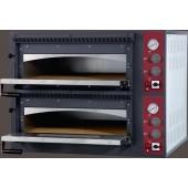 Forno de Pizzas Industrial Elétrico Trifásico de 2 Câmaras para 2x4 pizzas de Ø 330 mm, 9400 Watts, +50º +500º C (transporte incluído) - Refª 100946