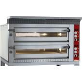 Forno de Pizzas Industrial Eléctrico Trifásico para 2x 6 Pizzas Ø 350 mm, 17600 Watts (transporte incluído) - Refª 100956