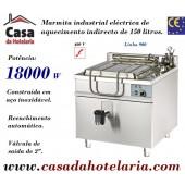 Marmita Industrial Eléctrica de Aquecimento Indirecto de 150 Litros da Linha 900 (transporte incluído) - Refª 100958