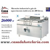 Marmita Industrial a Gás de Aquecimento Indirecto de 200 Litros da Linha 900 (transporte incluído) - Refª 100972