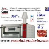 Forno de Pizzas a Gás 4 pizzas Ø 330 mm, Potência de 12040 K-cal/h (transporte incluído) - Refª 100974