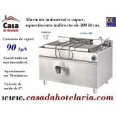 Marmita Industrial de Aquecimento a Vapor com Caldeira de 300 Litros da Linha 900 (transporte incluído) - Refª 101002