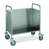 Carro em Aço Inoxidável para Transporte de 200 Pratos com 1 Prateleira, Capacidade de Carga de 120 kg (transporte incluído) - Refª 101058