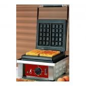 Máquina de Waffles de 2 Pedaços 3x5, potência de 1500 Watts, 0º a +300º C (transporte incluído) - Refª 101177