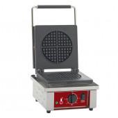 Máquina de Waffles para 4 Pedaços Arredondados, potência de 1600 Watts, 0º a +300º C (transporte incluído) - Refª 101179
