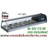 Vitrina - Estrutura Refrigerada de Balcão 6x GN 1/3 de 40 mm (transporte incluído) - Refª 101180