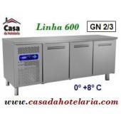 Bancada Refrigerada Ventilada de 3 Portas, 395 Litros, Temperatura 0º +8º C (transporte incluído) - Refª 101332