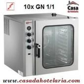 Forno Eléctrico de Convecção de 10 Níveis GN 1/1 Industrial - Monofásico (transporte incluído) - Refª 101341