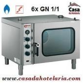 Forno de Convecção a Gás de 6 Níveis GN 1/1 Industrial (transporte incluído) - Refª 101362